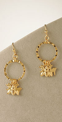 On Sale: Yochi Design Animal Charm Hoop Earrings