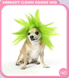 Krrrusty Clown Doggie Dog Wig