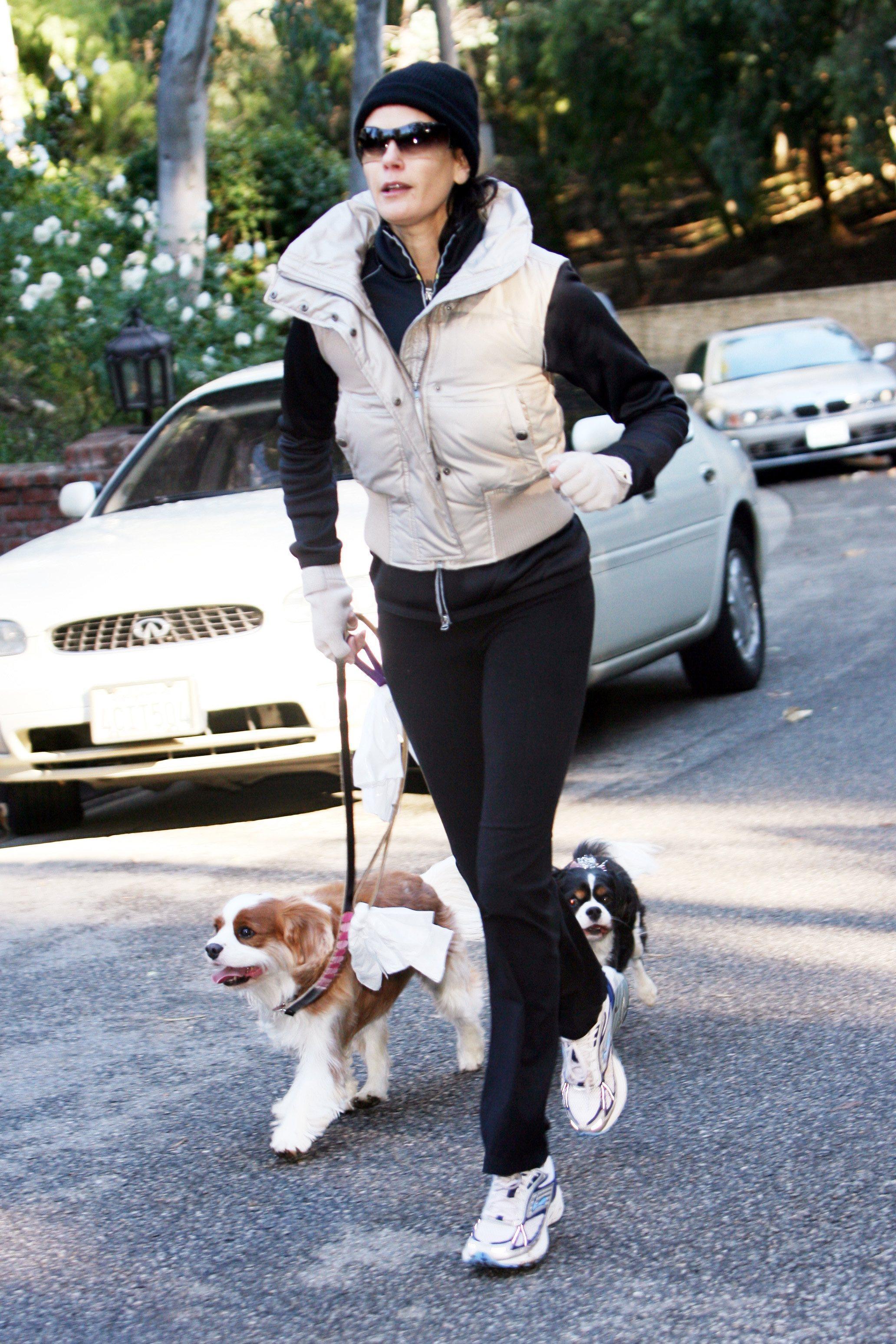 teri hatcher dog walk 091207