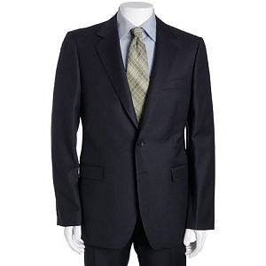 Gucci navy striped wool 2-button suit