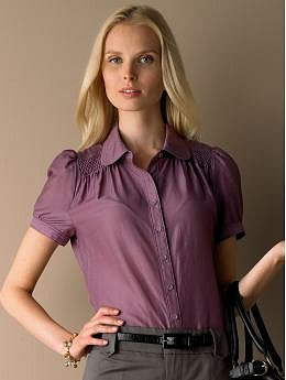 BananaRepublic.com: Cotton/silk smocked blouse: