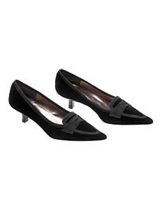 Fall Looks for Work:: Velvet Kitten Heels at Boden