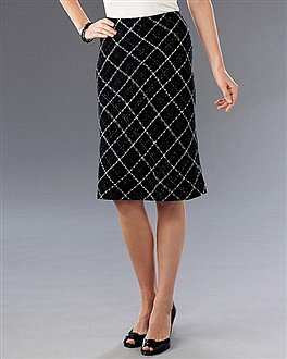 Diamond Weave Pencil Skirt