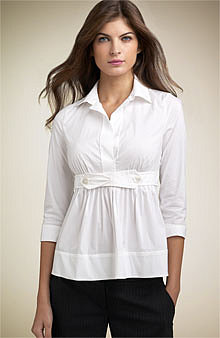 BCBGMAXAZRIA Empire Poplin Shirt - Updated - Nordstrom