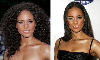 Do You Prefer Alicia Keys With Straight or Curly Hair?