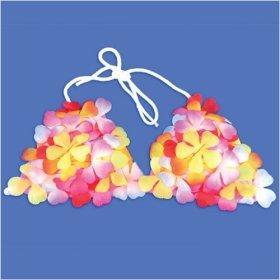 TROPICAL PRINT: Flower Bikini Top-One Size