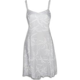 TROPICAL PRINT: Hawaiian Wedding Sun Dress with White Palm Trees