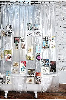 UrbanOutfitters.com > Vinyl Pockets Shower Curtain