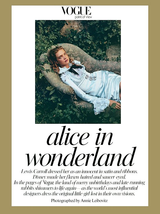Alice in Wonderland by Annie Leibovitz for Vogue