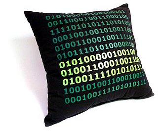 Binary Code Pillow: Totally Geeky or Geek Chic?