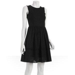Jill Stuart black cotton dot &#039;Cynthi