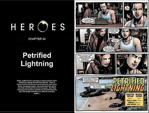 HEROES Graphic novel Chapter 54: Petrified lighting.