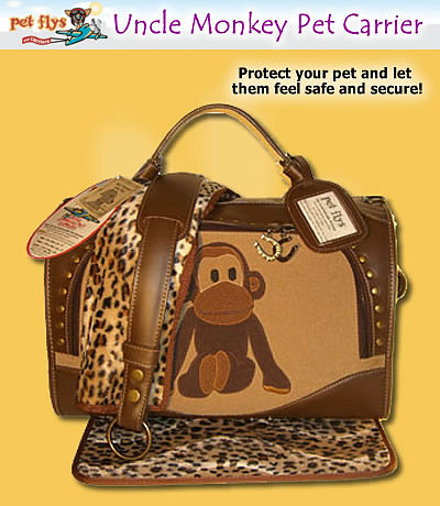 Uncle Monkey Pet Carrier by Pet Flys at Precious Pets Paradise