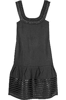 Chloe Raffia Trimmed Dress
