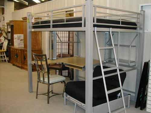 Loft bed , desk and chair