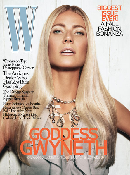 W September 2007 : Gwyneth Paltrow by Steven Klein