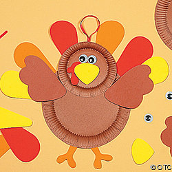 Paper Plate And Foam Turkey Craft Kit