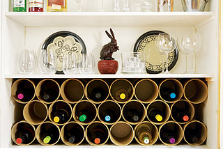 DIY: A Mailing-Tube Wine Rack