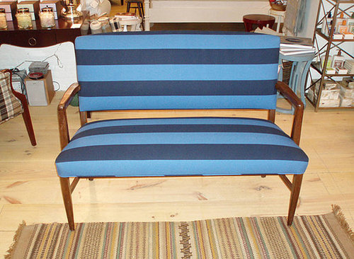 Casa Craving Recap: Blue Striped Danish Bench