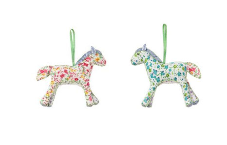 Patchwork Ornament Ponies from Anthropologie