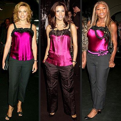 Fashion Faceoff: Mariska Hargitay vs. Eva Longoria vs. Serena Williams