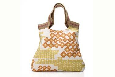 drikaB handmade flowered tote bag available at Delight.com