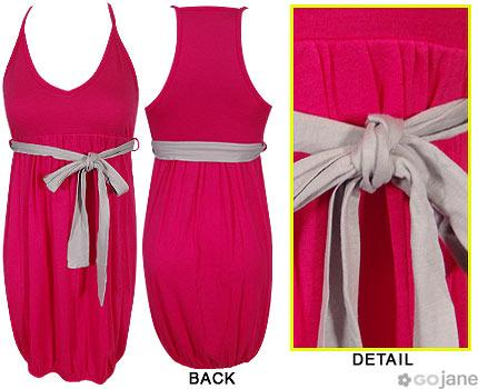 GoJane.com - Fushia and grey dress