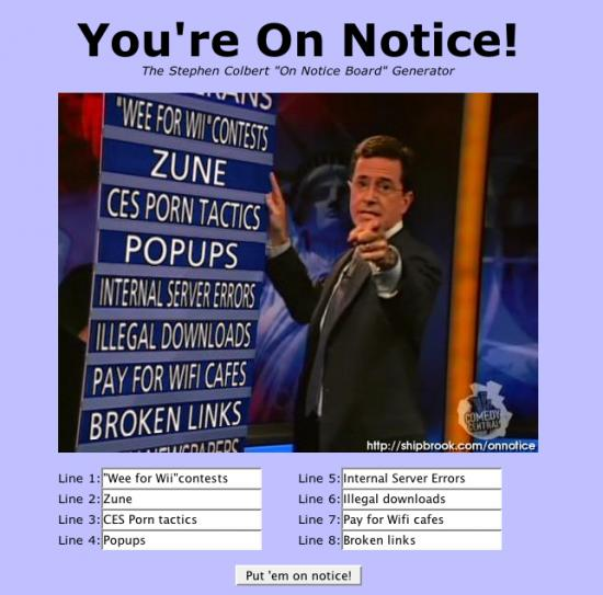Shipbrook.com - For All You Stephen Colbert Fans