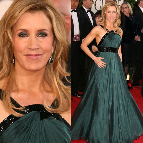 The Golden Globes Red Carpet: Felicity Huffman