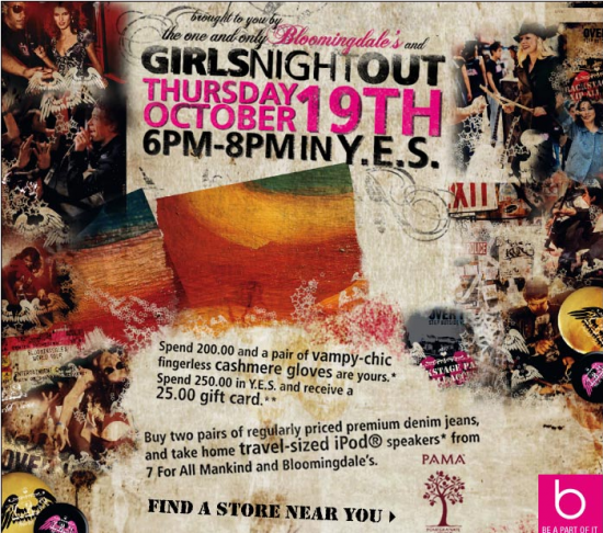 Bloomingdale's Girls Night Out