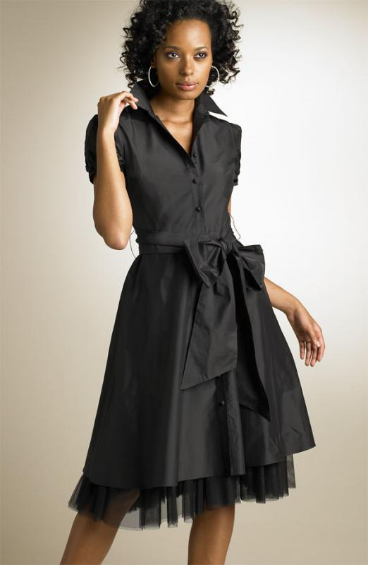 The Look For Less: BCBG Max Azria Taffeta Shirtdress