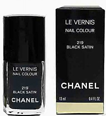 Chanel's Black Satin Returns