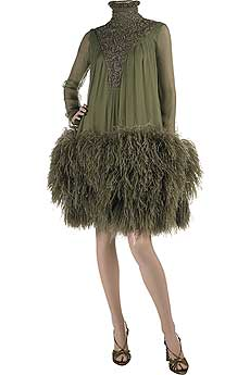 Alexander McQueen Feather Hem Dress:  Love It or Hate It?