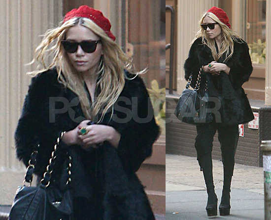 Olsen In New York During Fashion Week, Cunningly Devises Ploy to Avoid all Event Photographers