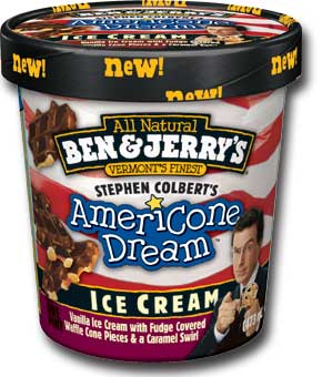 Ice Cream Moves Colbert Closer to World Domination