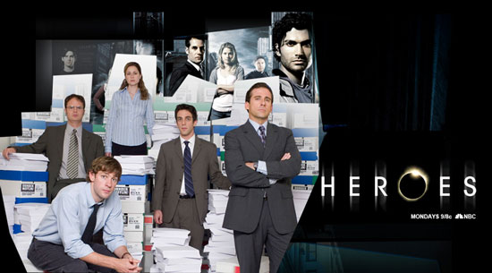 """Heroes"" at ""The Office"""