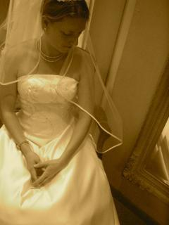 My best friend on her wedding day.