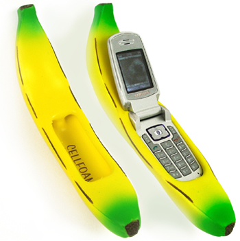 Totally Geeky or Geek Chic? Banana Cell Phone Holder