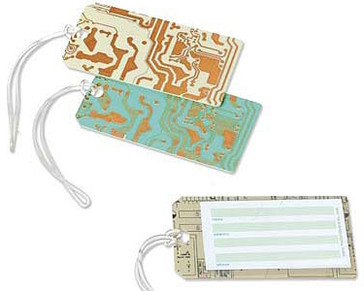 Travel In Style With Circuit Board Luggage Tags