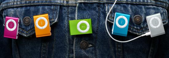 iPod Shuffle Now Available in Bright Colors!