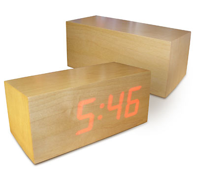 Zen-Inspired Michelangelo LED Clock