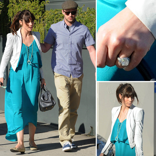 Jessica Biel Engagement Ring Pictures | POPSUGAR Celebrity