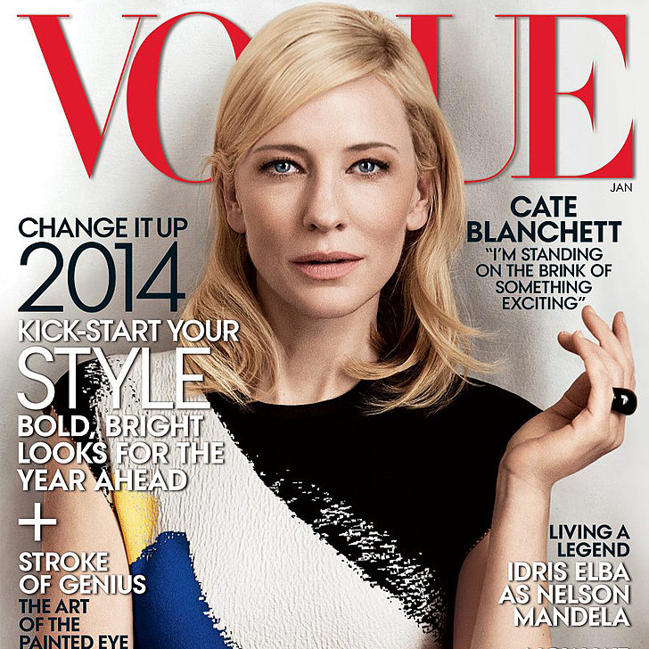 Cate Blanchett December Cover of American Vogue