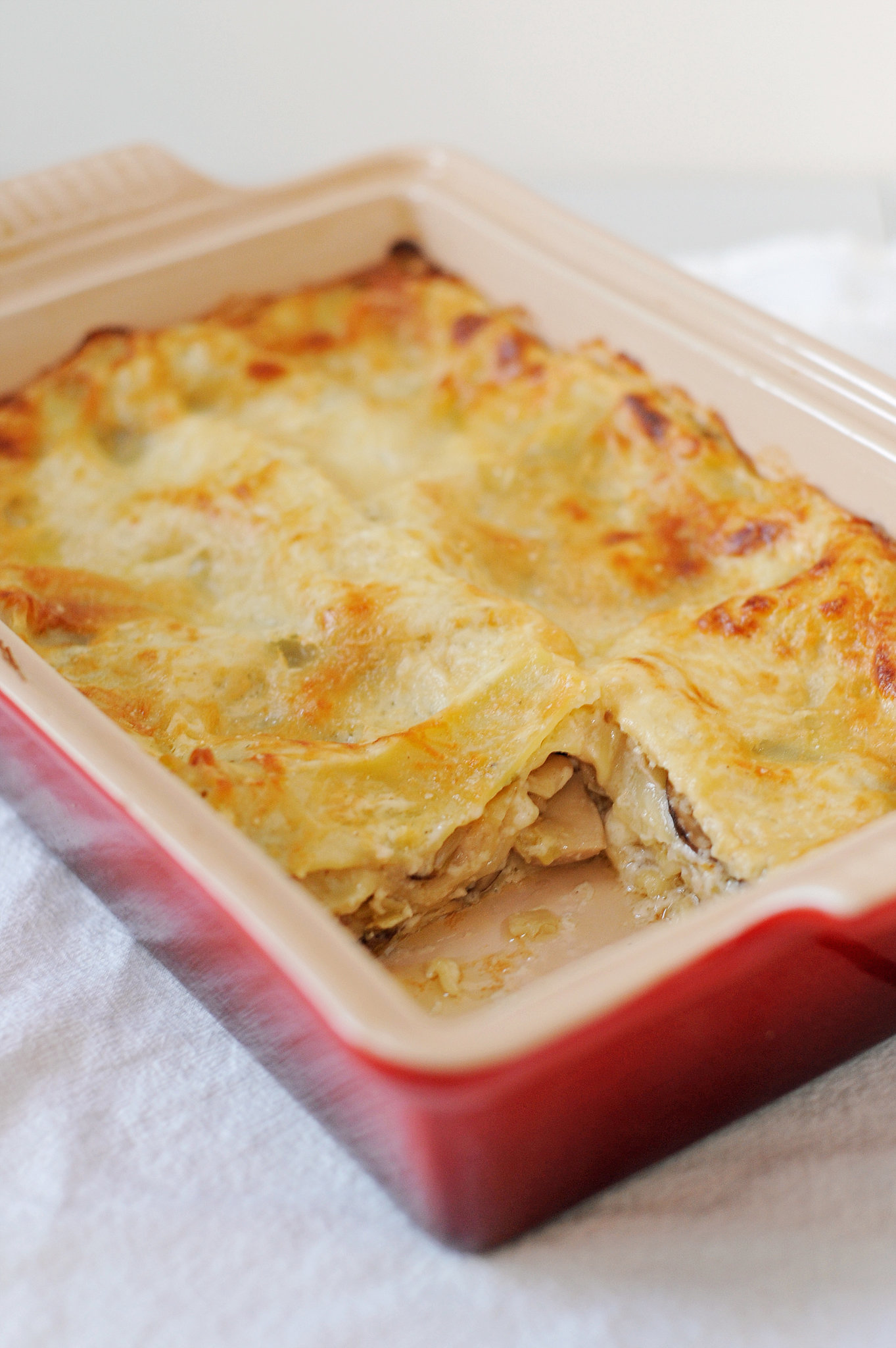 Hunker Down With This Hearty Mushroom-Leek Lasagna From Ina Garten